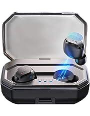 【2019 Neueste】 Antimi Bluetooth Kopfhörer in Ear,Bluetooth 5.0 Headset Sport Kabellose Stereo-Minikopfhörer mit IPX6 Wasserdicht,Mikrofon,Ladekästchen 3000mAh,Ohrhörer für iPhone, Samsung und mehr