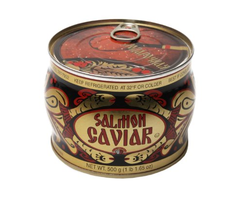 (Red) Caviar 500 g (17.7 oz.) can (Red Salmon Caviar)