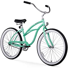Enjoy a smooth, easy ride with the Firmstrong Urban Lady, a classic cruiser bike that comes in four speed options (single-, 3-, 7, and 21-speed) and two wheel sizes (24-inch and 26-inch) to fit your riding style. The curvy steel cruiser frame...