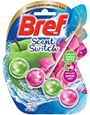 Bref Scent Switch Toilet Bowl Cleaner - Green Apple & Water Lily,2582522
