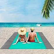 ISOPHO Beach Blanket, 79''×83''/95'' x 108'' Beach Blanket Waterproof Sandproo