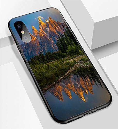 (iPhone X/XS Ultra-Thin Phone case Dramatic Grand Teton Sunrise Anti-Drop Anti-Slip Soft Convenient Protective Shell)