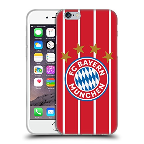 Official FC Bayern Munich Home 2017/18 Logo Kit Soft Gel Case for Apple iPhone 6 / iPhone (Bayern Munich Kits)
