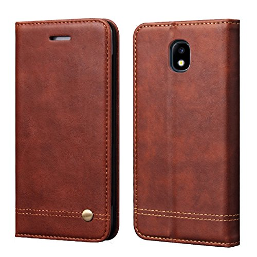 - Galaxy J7 2018 Case,J7 Aero/J7 Top/J7 Refine/J7 Eon/J7 Star/J7 Crown/J7 Aura Flip Case,RUIHUI Leather Wallet Folding Flip Protective Cover Case for Samsung J7 2018 [Classic Edition],Brown