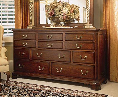 American Drew Triple Dresser in Classic Antique Cherry Finish 50778
