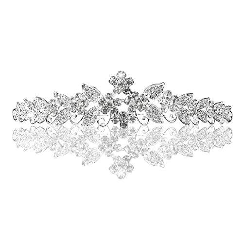 PIXNOR Crystal Rhinestones Crown Headband