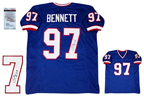 Cornelius Bennett Signed Jersey - Witnessed Royal - JSA Certified - Autographed NFL Jerseys ()
