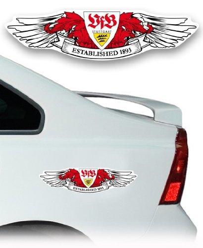 """AUTO AUFKLEBER STICKER VFB STUTTGART /""""Wings/"""" NEU"""
