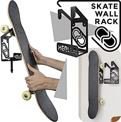 f7c52b76 Amazon.com : MEOLLO Skateboard Rack Wall Hanger (100% Steel) (Black ...