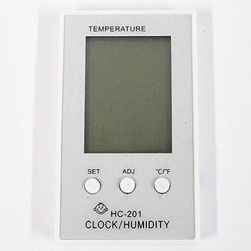 SparY Home - Termómetro higrómetro, Monitor de Humedad de Temperatura, Reloj Digital LCD,