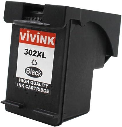 vivink 1 Pack HP 302 X L HP 302 XL negro Cartucho de tinta ...