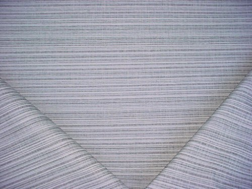 164H10 - Charcoal / Grey / Grey Blue / White Stripe Upholstery Drapery Fabric - By the Yard (Blue And White Stripe Fabric compare prices)