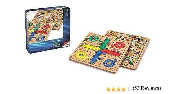 Cayro - Parchis y Oca Madera Metal Box - Juego de Tradicional - Juego de Mesa - Desarrollo de Habilidades cognitivas - Juego de Mesa (752): Amazon.es: Juguetes y juegos