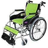 自走用車椅子 チャップススリム ラバンバ ライム 軽量 折りたたみ式 ノーパンクタイヤ G101-L (ライム) カドクラ
