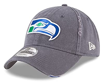New Era Seattle Seahawks Vintage Logo Graphite Rip Right 9TWENTY Adjustable Hat/Cap by New Era