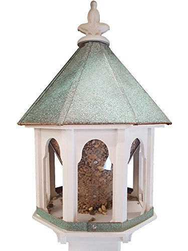 - NC Birdguy Wild Bird Feeder Solid Cellular PVC Patina Copper Roof (F8V) Made in The USA