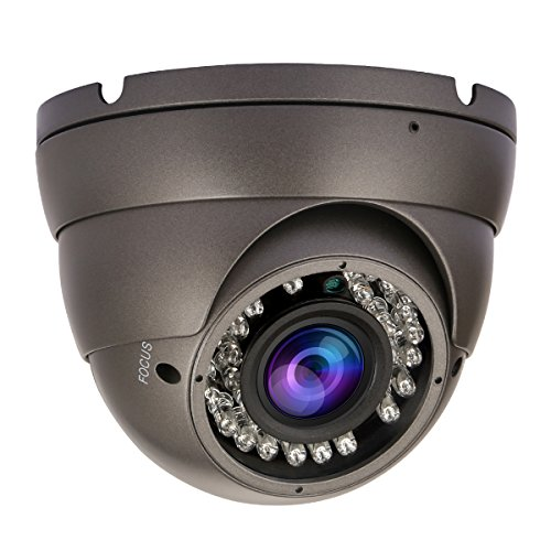 Hykamic 4 in 1 Security Dome Camera 1080P HD 2.8-12 mm Varifocal Lens, Compatible with HD-AHD/CVI/TVI&CVBS DVR (Black)