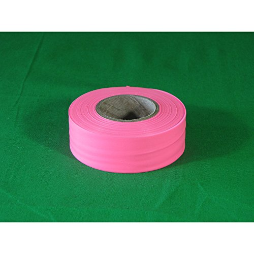 Swanson CMPG15 1-3/16-Inch by 150-Feet Coarse Matte Roll Flagging, Pink