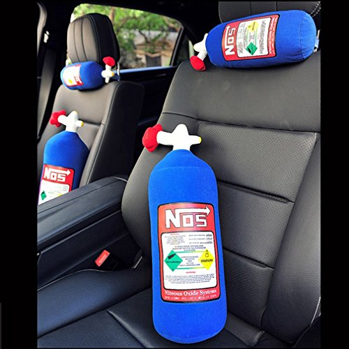 NOS Travel Pillow,Jacksuper Super Cool Memory Foam Car Decor Head Back Rest Sofa Cushion Toy Gift (Headrest(30cm)) (Bottle Nos)