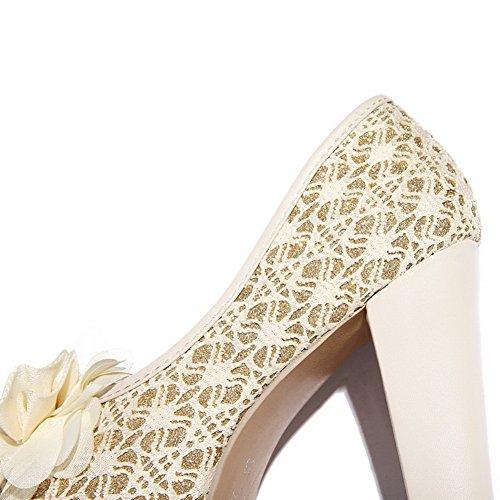 Adee Mujer de Satén de sandalias de sandalias Beige