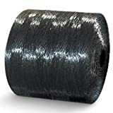 CWC Split Film Polypropylene Tying Twine - 1 Ply, 110 lbs Tensile, Black (Pack of 4 rolls)