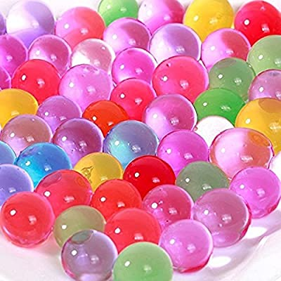 8 Ounces, Approx. 20,000 Marble Size Jelly BeadZ Water Bead Gel, For Stress Balls, Summer Rainbow Mix