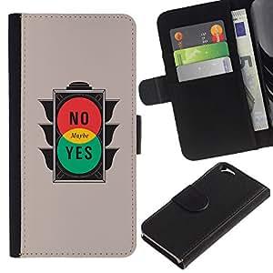 EJOY---Tirón de la caja Cartera de cuero con ranuras para tarjetas / Apple Iphone 6 / --Semáforo