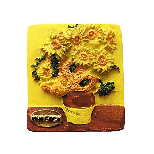 Famosa pintura 3D girasol Van Gogh imán de nevera Holland viaje ...