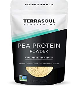 Terrasoul Superfoods Organic Pea Protein, 1.5 Lbs - European Sourced | Unflavored | Smooth Texture