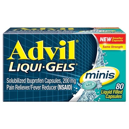 Advil Liqui-Gels Minis, 80 Capsules Per Bottle (5 Bottles) by Advil