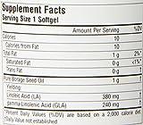 Source Naturals Mega-GLA 300 - 100% Pure, Cold Pressed Borage Seed Oil, Fatty Acid Support - Omega 6 - 30 Softgels