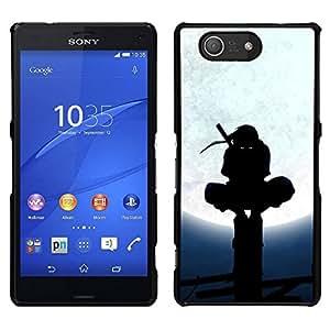 // PHONE CASE GIFT // Duro Estuche protector PC Cáscara Plástico Carcasa Funda Hard Protective Case for Sony Xperia Z3 Compact / Samurai Ninja Warrior /