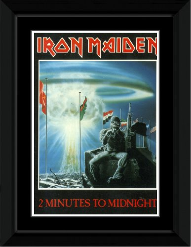 Iron Maiden - 2 Minutes To Midnight Framed and Mounted Print - 14.7x10.2cm (Iron Maiden Killers Poster compare prices)