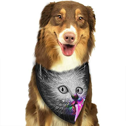 Jingclor Pet Dog Scarf Cute Cat Eating Popsicle Washable Dog Puppy Triangle Bandana Bib Babys Neckerchief Accessories