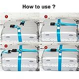 BlueCosto Orange TSA Approved Luggage Straps