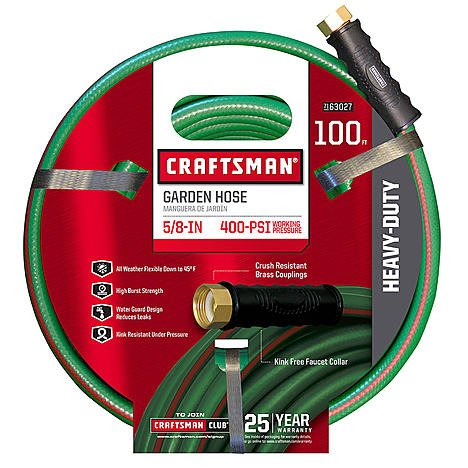 "Craftsman CM-IFHD-3 Heavy Duty 5/8"" x 100' Garden Hose plus"