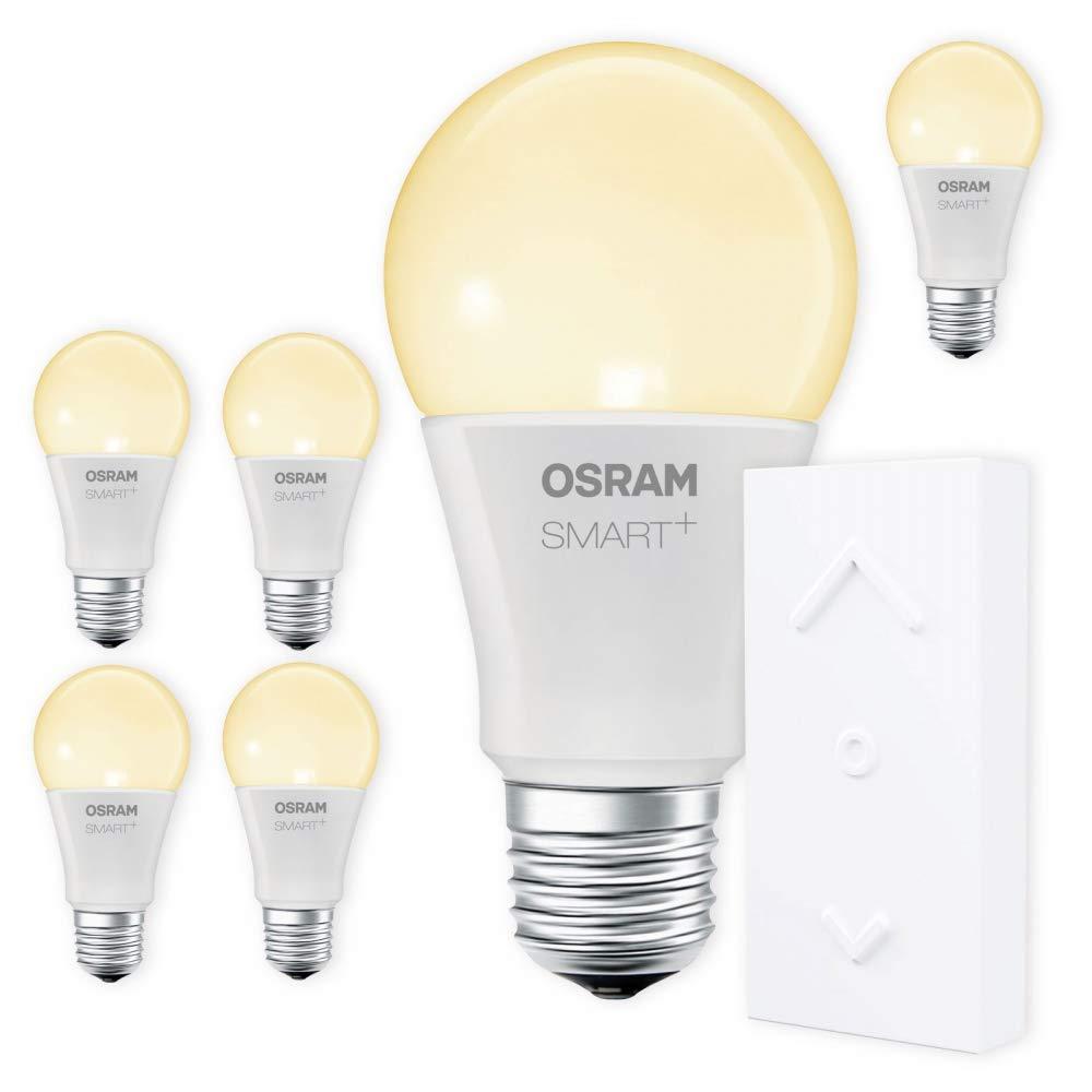 OSRAM SMART+ SWITCH KIT E27 2700K warmweiß LED dimmbar + Dimmschalter weiß Auswahl 6er Set