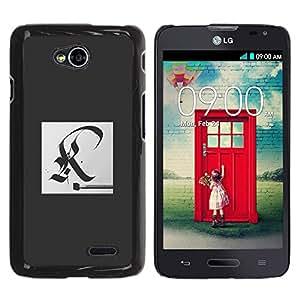YOYOYO Smartphone Protección Defender Duro Negro Funda Imagen Diseño Carcasa Tapa Case Skin Cover Para LG Optimus L70 LS620 D325 MS323 - gran escritura R