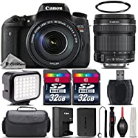 Canon EOS Rebel T6s DSLR Built-In Wi-Fi with NFC Camera + 18-135mm IS STM Lens + 64GB Storage + LED Kit + Case + UV Filter + Card Reader - International Version