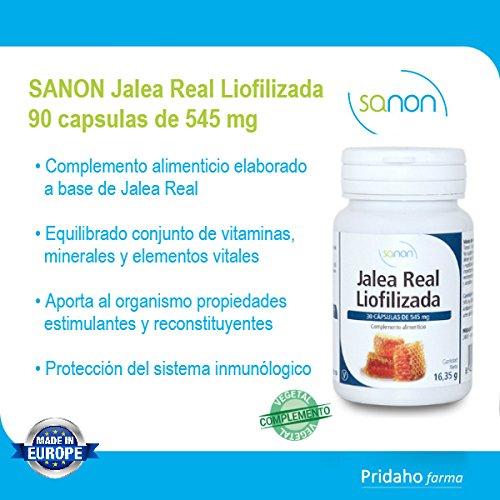 SANON Jalea Real Liofilizada 90 cápsulas de 545 mg: Amazon.es: Salud y cuidado personal