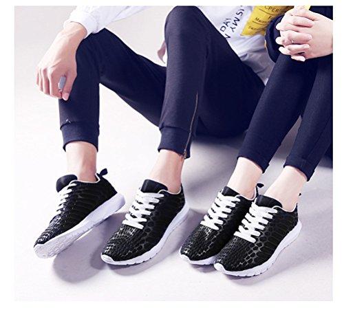 Auspicious beginning Women and Men Breathable Mesh Shoes Anti-Slip Sneakers Black Fz0nCV