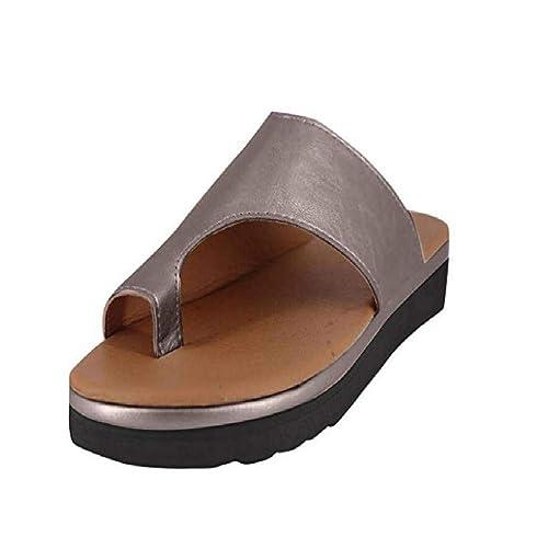 sports shoes c0af7 43215 Vertvie Damen Sandalen Bequeme Plattform Pantoletten Zehentrenner  Hausschuhe Sommer Strand Reise Schuhe Flach Flip Flops