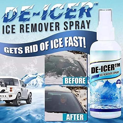 Hedgx Ice-Off Spray De-Icer Windshield DeIcer Spray Windshield De-Icer Anti-Frost Windshield Washer Fluid WindshieldSpray Deicing Agent Glass Spray Defrosting Windshield Windows Wipers Spray