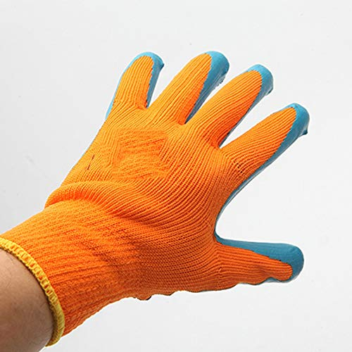 (Working Gloves, Wear Resistant Non-Slip Safety Gloves Reinforced Finger Foam Gloves Latex Glued Rubber Terry Gloves Industrial Safety Gloves 10 Pairs 5 Packs (Size : One Size, UnitCount : 5 Packs))