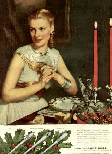 Lovely Blonde in 1946 Rogers BROS. SILVERPLATE AD Original Paper Ephemera Authentic Vintage Print Magazine - Silverplate 1946