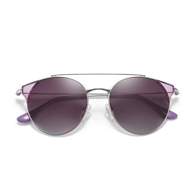 Gafas de sol polarizadas femeninas de las mujeres Gafas de sol redondas del marco de las mujeres que conducen las gafas de sol ULTRAVIOLETA Gafas cómodas ...