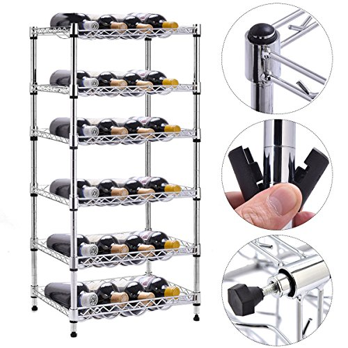 PROSPERLY U.S. Product 6-Shelf 24 Bottles Wine Rack Bottle Holder Organizer Display Liquor - Hours On Eve Walmart Christmas