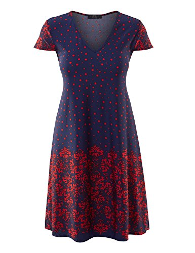 Made By Johnny WDR1219 Womens Print V Neck Cap Sleeve Mini Dress XL (Johnny Special Occasion Dress)