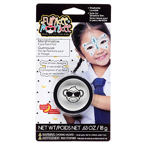 (Funkee Munkee 38454 Pod Marshmallow, Banana Scented, Costume and Party Makeup Face Paint,)