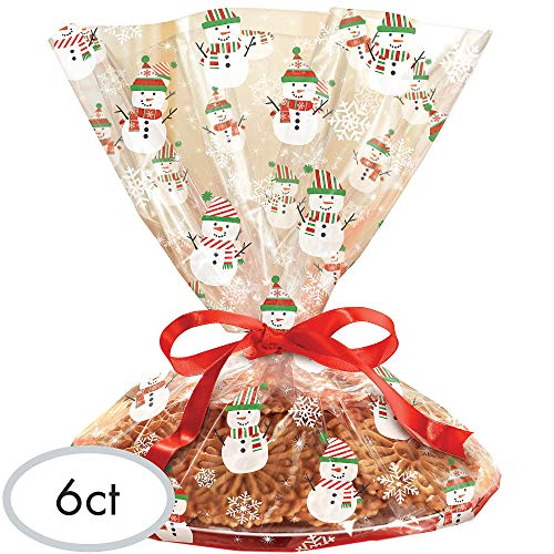 Amscan Gingerbread Christmas Multicolored Cookie Tray Bags, 6 Ct. | Party Supply